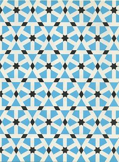 Pattern in Islamic Art -stone paving; Mosque of Sultan Hassan; Cairo, Egypt