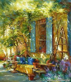 ART...would be a beautiful seating area in real life!