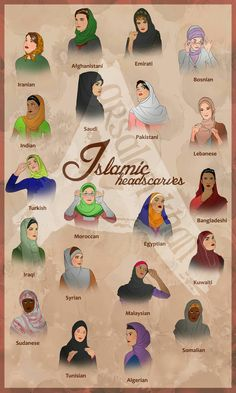 Photo by Arsalan Khan.   This isn't accurate but demonstrates some of the cultural norms as well as some of the millions of different ways to wear a headscarf.