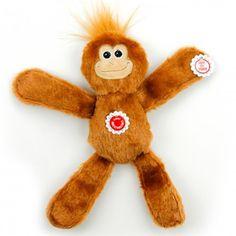 Brinquedo para Cães Turma Feliz Macaco Indoor Floppers Afp - MeuAmigoPet.com.br #petshop #cachorro #cão #meuamigopet