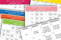 Get Fit in 2014 – Daily Beginner Workout Plan for June. Your workouts planned for the entire month including rest days.