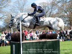 Vittoria and Pennyz - Badminton 2013 - 7th Double clear in the time on 47 dressage - photo @ equus pix