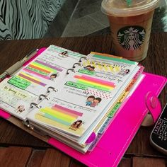 Inside the Crafters Studio: What's inside my hot pink filofax.