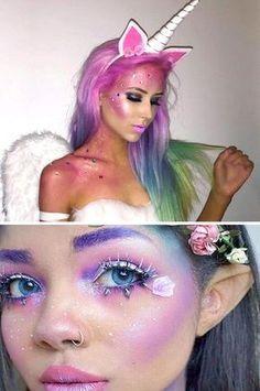 Maquillaje de Unicornio o pequeño pony.