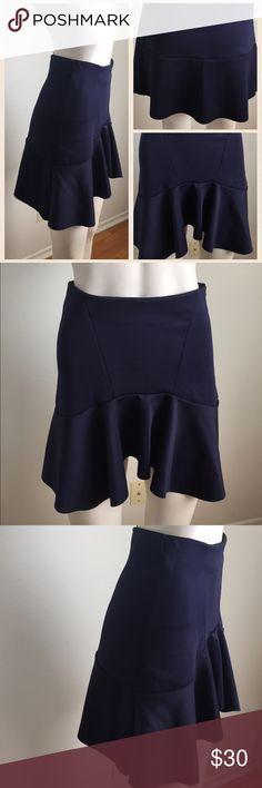 Cute navy Zara skirt Cute navy skirt from Zara. Has a little bit of ruffle to towards the bottom. Fun and flirty design. Perfect for date night. Zara Skirts