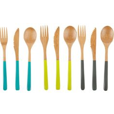 Colourful utensils by Core Bamboo #kitchen ware