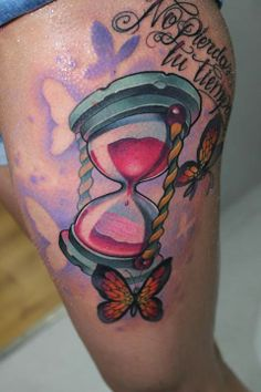 Colorful tattoos by Victor Chil