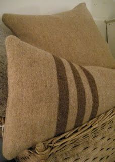 wool pillows-so pretty!