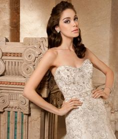 Demetrios 2015 Preview Style 4327 by Demetrios available now at Macy's Bridal Salon in Chicago #macysbridalsalon #chicago #demetrios