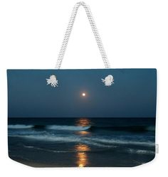 Blue Weekender Tote Bag featuring the photograph Blue Moon by Cynthia Guinn