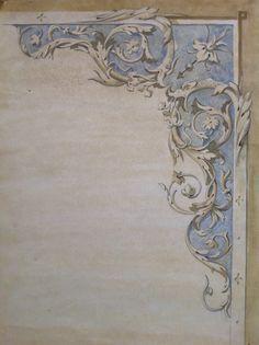 Sketch. Design of a ceiling
