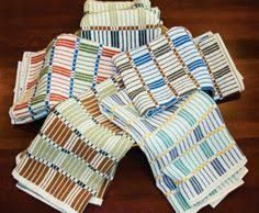 Cotton towels in what looks like monks belt. Colours really show off with monks belt ! Dish Towels, Hand Towels, Tea Towels, Weaving Patterns, Cotton Towels, Hand Weaving, Textiles, Interior, Weave