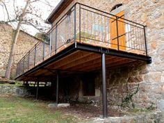 Pergola Ideas For Deck Info: 4987700843 Deck Design, House Design, Plan Chalet, Metal Deck, Wooden Terrace, Balcony Railing, House Deck, Balcony Garden, Backyard