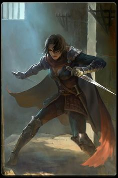Female Human Dual-Wielder Daggers Leather Armor Rogue Assassin Swashbuckler - Pathfinder PFRPG DND D&D fantasy 3d Fantasy, Fantasy Warrior, Medieval Fantasy, Fantasy Artwork, Fantasy Character Design, Character Concept, Character Art, Concept Art, D D Characters