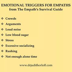 Emotional triggers for emphaths Empath Traits, Intuitive Empath, Highly Sensitive Person, Sensitive People, Empath Abilities, Infj Personality, Personality Profile, Emotion, Self Improvement