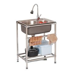 Kitchen Sink Modern Movable Sink Stainless Steel Single Bowl Washing Sink Faucet Not Included Modern Kitchen Sinks Sink Faucets Kitchen Sink