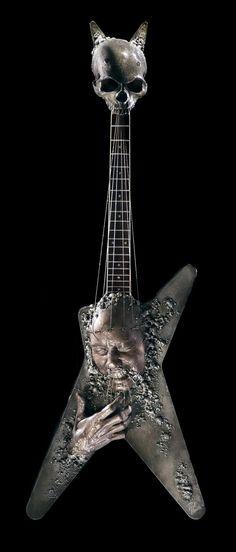 Paul Booth guitar design for Dimebag Darrel tribute