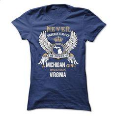 MICHIGAN Girl MI-VA cifv - #tshirt typography #cute tshirt. SIMILAR ITEMS => https://www.sunfrog.com/States/MICHIGAN-Girl-MI-VA-cifv-Ladies.html?68278