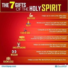 The 7 Gifts of the Holy Spirit Every Catholic Needs to Know, In One Infographic Prayer Scriptures, Bible Teachings, Bible Prayers, Catholic Religious Education, Catholic Catechism, Catholic Bible, Catholic Crafts, Catholic Prayers, Spirituality