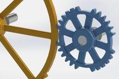 2 segmented gears intermittent - STEP / IGES,STL,SOLIDWORKS,Parasolid - 3D CAD model - GrabCAD
