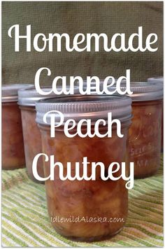 Here's a great recipe I came up with for homemade peach chutney, the perfect addition to that pork chop dinner! So delicious! Real Food Recipes, Great Recipes, Favorite Recipes, Jelly Recipes, Jam Recipes, Peach Chutney, Pork Chop Dinner, Water Bath Canning, Pressure Canning