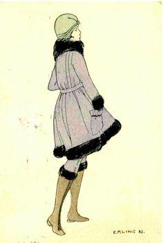Mote Erling Nielsen Mittet stemplet 1917