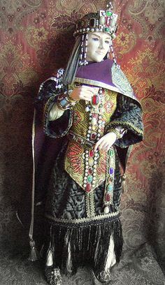 Prince Vyacheslav in his Byzantine ceremonial costume by Kotomicreations, via Flickr