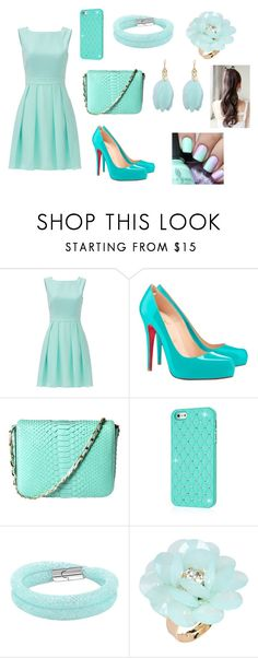 """io"" by aiste-mini on Polyvore featuring Kate Spade, Christian Louboutin, Cashhimi, Swarovski and Dettagli"
