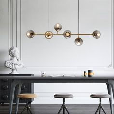 White glider pendant light chandelier: Tudo and co Tudo And Co - Chandeliers Lighting - Ideas of Chandeliers Lighting Branch Chandelier, Modern Chandelier, Chandelier Lighting, Modern Lighting, Bubble Chandelier, Loft Lighting, Linear Pendant Lighting, Industrial Chandelier, Iron Chandeliers