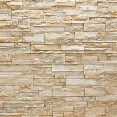 stacked stone facade