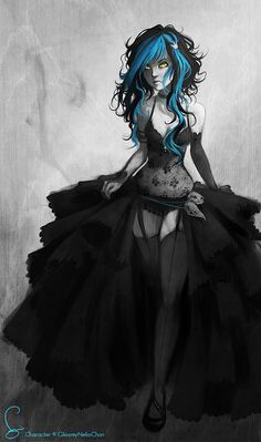 Gothic art. I like it even if just for the hair.