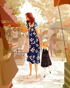 Pascal Campion「Sunday Market」