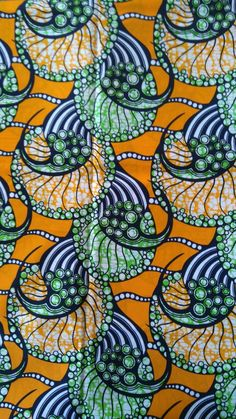 African wax block print fabric