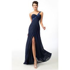 One Shoulder Navy Blue Elegant Bridesmaid Dress Elegant Bridesmaid Dresses, Prom Dresses, Formal Dresses, Blue Bridesmaids, Cool Suits, Suits You, Baby Blue, Evening Dresses, One Shoulder