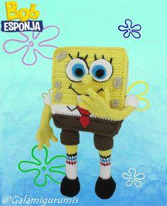 bob esponja tejido a crochet