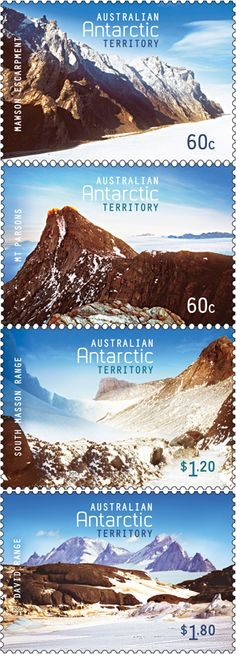 Australian Antarctic Territory Mountains on stamps http://www.stampnews.com/stamps/stamps_2013/stamp_australian-antarctic-territory-mountains-on-stamps.html