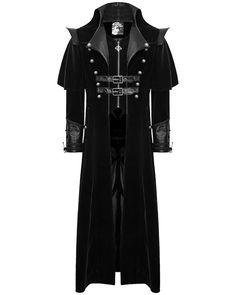 Punk Rave Mens Coat Long Jacket Black Gothic Steampunk VTG Regency Highwayman #PunkRave #OtherCoats