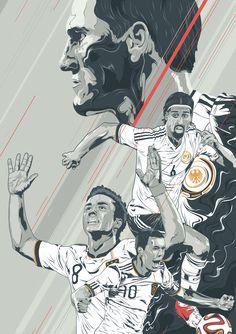 "Fifa World Cup 2014 Brazil: German team art ""Make us proud"" by Oliver Gareis from Hamburg, Germany, 2014-07-03 via Behance 18098093 • 18hrs in Adobe Illustrator • football/soccer players in art: Schweinsteiger / Khedira / Götze / Podolski"