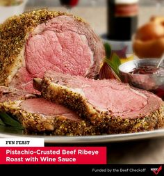 Having company this weekend? Impress them with this Pistachio-Crusted Roast #recipe!