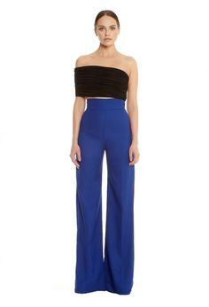 Belair Wide Leg Trousers - Blue £100