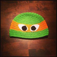 Ninja turtle hat orange