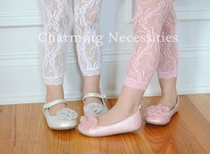 Lace leggings are a perfect for layering under any Charming Necessities dress or skirt Lace Leggings, Girls In Leggings, Two Daughters, To My Daughter, My Little Girl, My Girl, Kids Outfits, Cute Outfits, Childrens Shoes