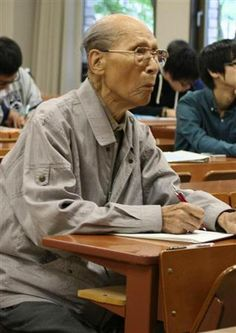 You're never too late to learn, 99 year old University student in Japan
