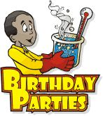 Awesome birthday party idea!  Have a Mad Scientist come!