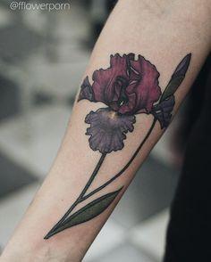 c5658cc25f924 Illustrative iris tattoo on the right inner forearm. Done by Olga Nekrasova