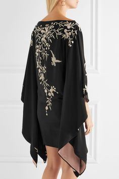 Talitha | Embroidered silk kimono mini dress | NET-A-PORTER.COM