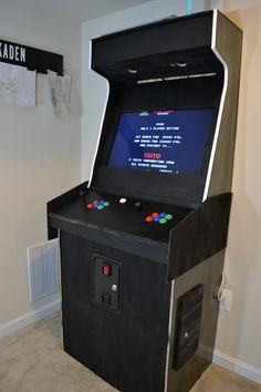 This is a tutorial on how to build your own arcade machine. This will cover how my husband built our MAME cabinet and the supplies needed. He repurposed a kitchen cabinet base for the bottom portion of the cabinet.