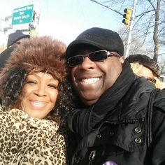 With my handsome brother, Anthony Morgan at our MLK gig!