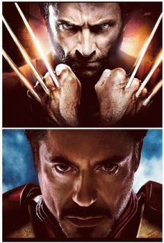Super-Heroes and Villains - Wolverine and Iron Man