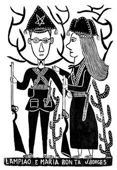 Arte Popular do Brasil: J. Borges, Lampião e Maria Bonita.